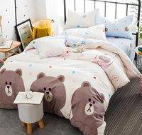 Character bear bedding sets adult teen child kid,100%cotton full queen cartoon home textiles bed sheet pillow cases quilt cover