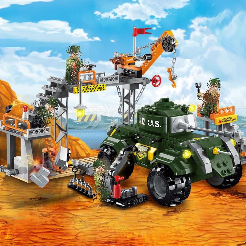 Iluminar 1712 guerra militar manutenção a fábrica ordance blocos de construção educacionais tijolos brinquedos para criança compatível com brinquedos