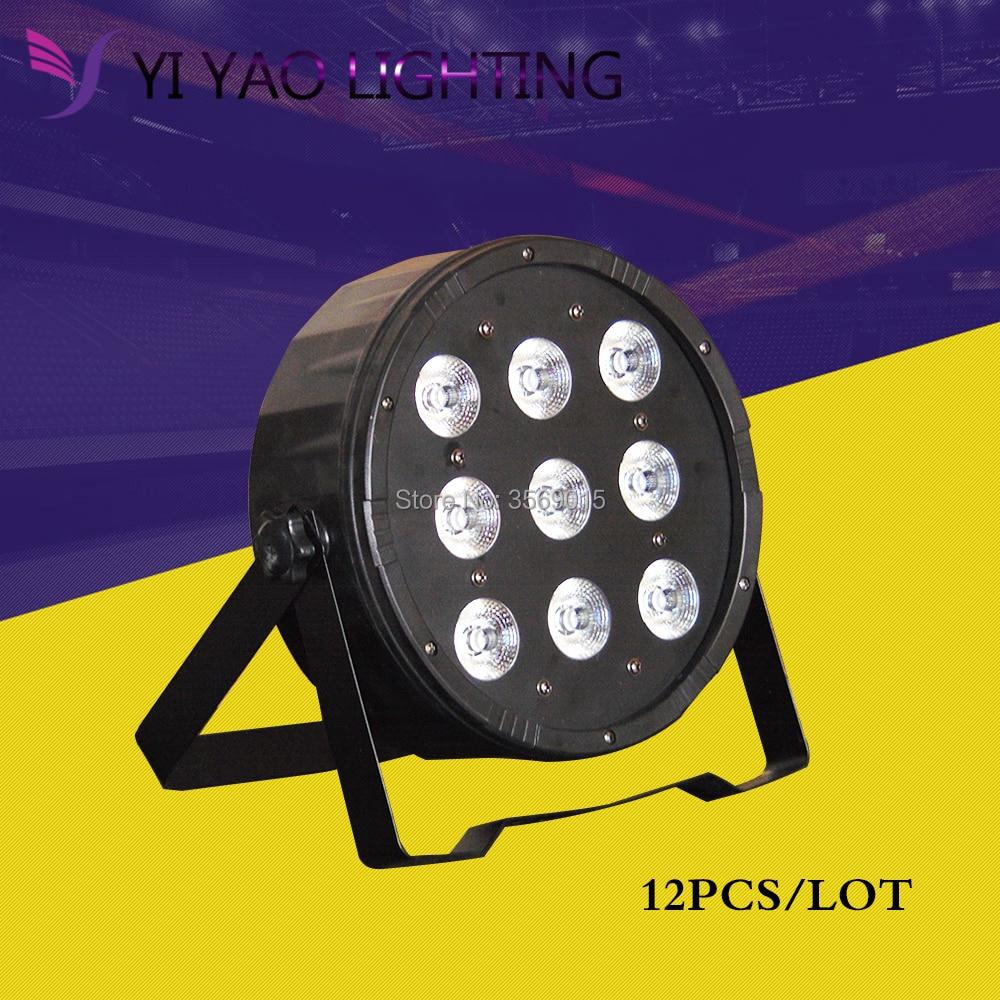 12PCS/LOT 9x12W RGBW 4IN1 led par DJ LED RGBW Wash Disco Light DMX Controller12PCS/LOT 9x12W RGBW 4IN1 led par DJ LED RGBW Wash Disco Light DMX Controller