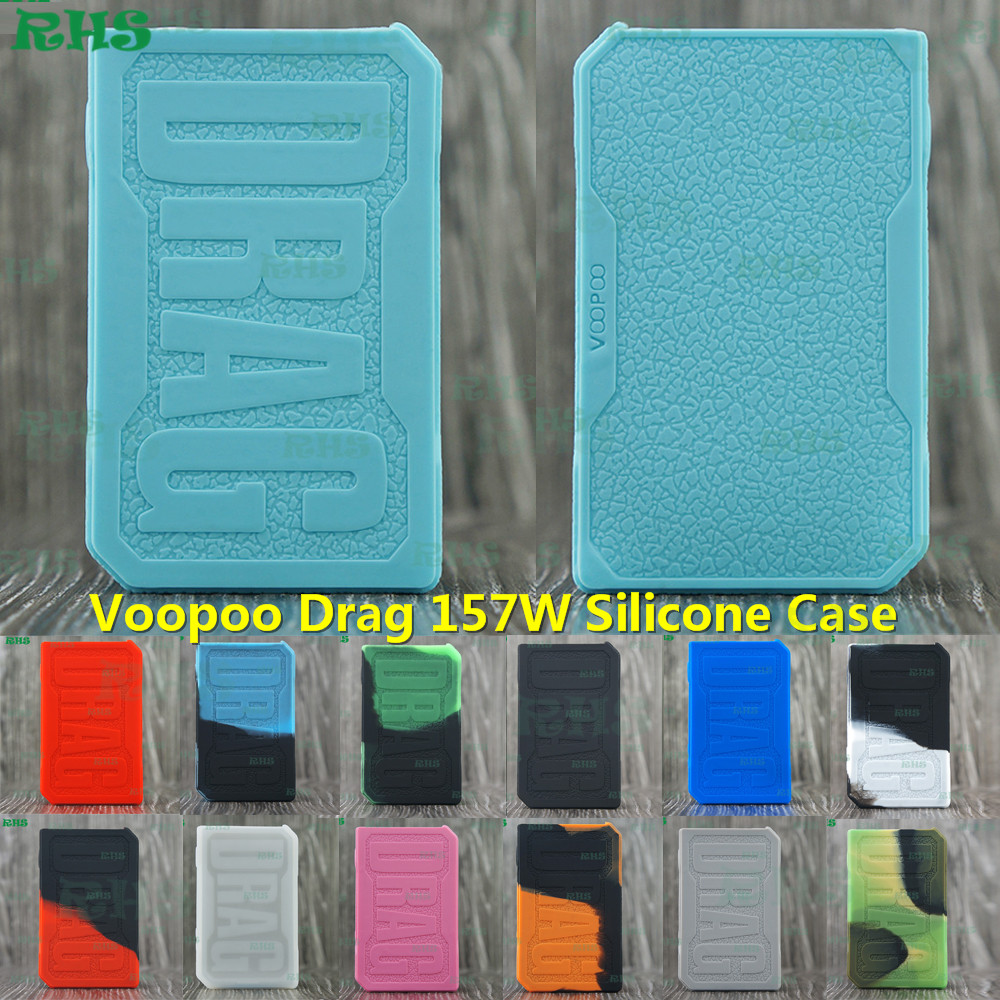 RHS VOOPOO Drag 157W Silicone Case Cover thicker skin cover protector for Drag 157w mod skin dustproof free shipping
