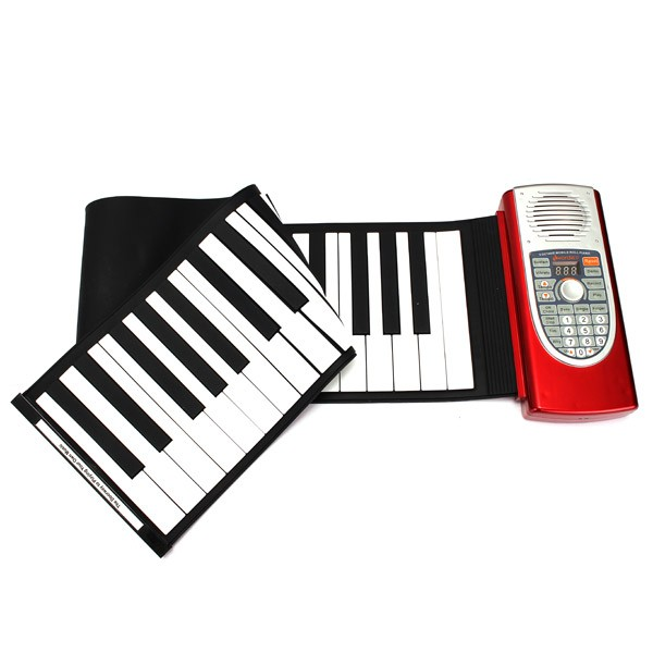 61 keys Midi Electronic Roll Up Piano Portable Flexible Soft Keys Music Keyboard Instruments набор посуды 4 предмета vitesse vs 2238 blu