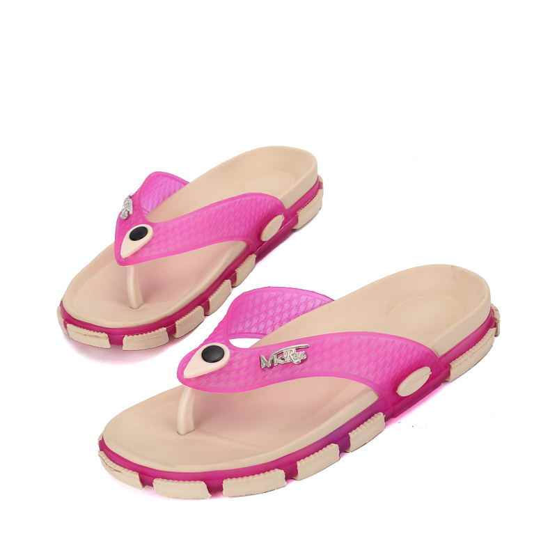 LAISUMK Walking letnie kobiety plaża oddychające kapcie TPU ogród Mule drewniaki buty japonki przypadkowi moda plaża klapki japonki