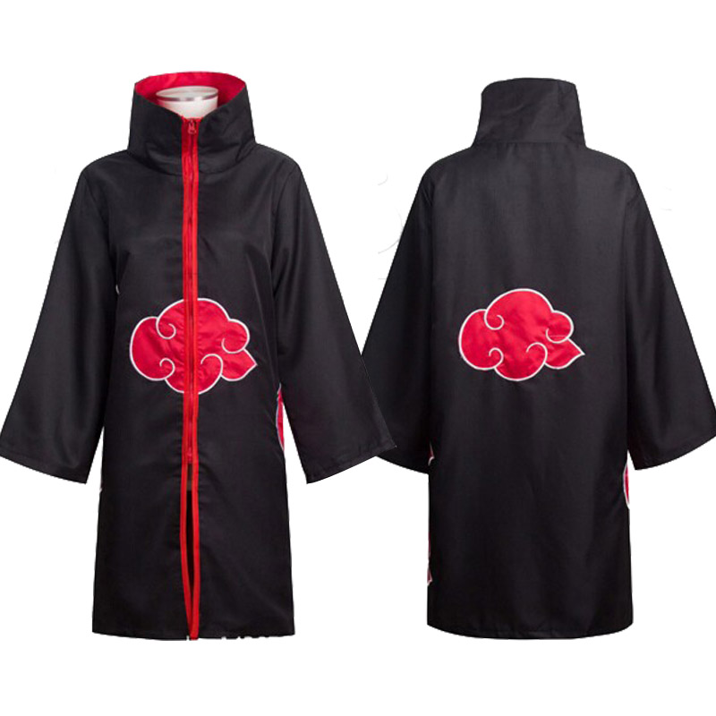 Sales Leader Anime Naruto Akatsuki / Uchiha Itachi Halloween Cosplay for Christmas Party Costume Cloak Cape