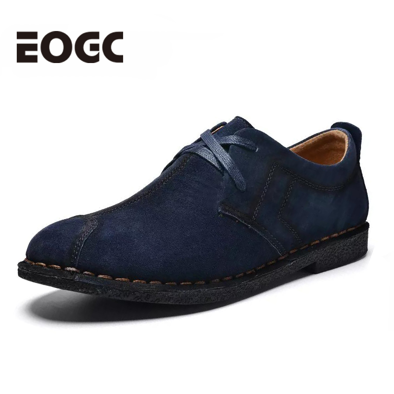 Fashion Men casual shoes new spring   suede   men's flats lace up male business oxfords men   leather   shoes