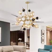 Pecial в форме люстры освещение индивидуальная столовая гостиная Золотистая люстра современная спальня led креативные стеклянные светильники