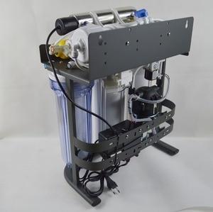 Image 2 - ホット販売 7 ステージ家庭用逆浸透システム 50GPD とスタンド、 UV と圧力計/220 V/ヨーロッパ 2 ピンプラグ