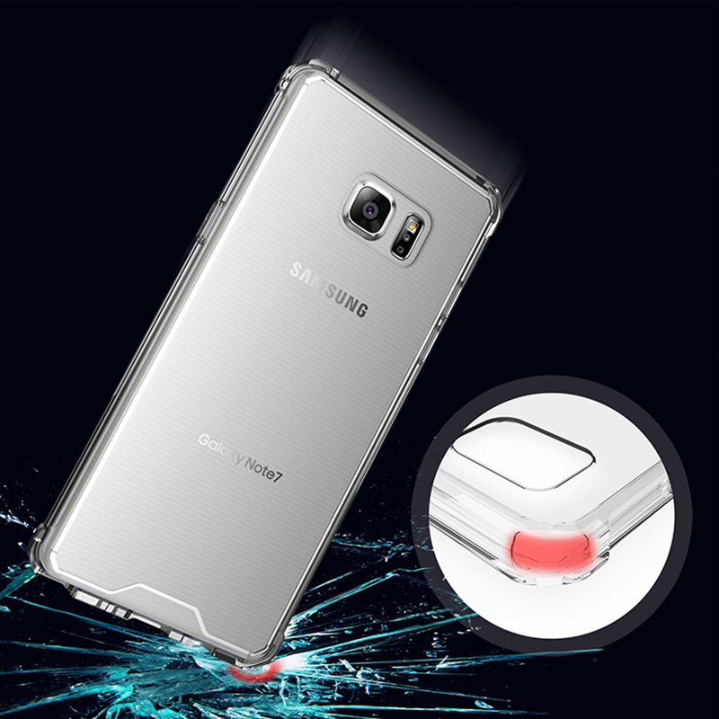 for s7 Edge case Anti knock Clear Protective Case for Samsung galaxy Note 8 s8 S8 Plus Shockproof Hard back cover case a8 Plus