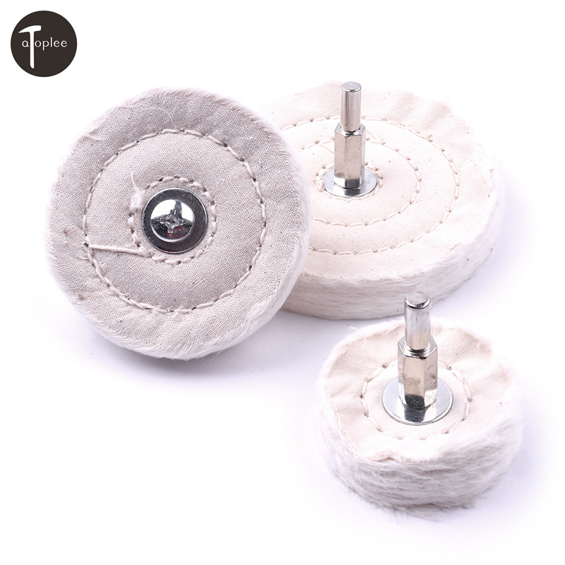 New 1pc Cotton Polishing Wheels 50/75/100mm Cloth Buffing Wheel For Jewelry Wood Metal Glass Polishing Abrasive Tools