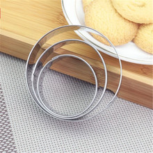 3PCS/SET Baking Mould Round Shaped Cookie Cutter Stainless Steel Egg Mould Fondant Sugarcraft Cutter Biscuit DIY Mold