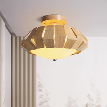 Modern Wood Color Led Ceiling Light Vintage Living Room Bedroom Lamp Decor Study Dining Luminarias