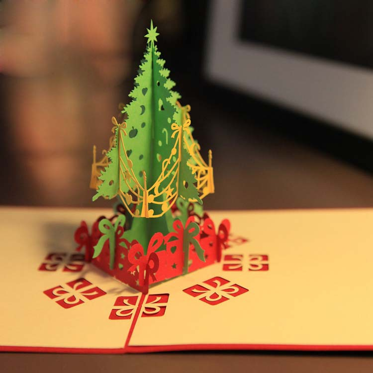 tienda online feliz rbol de navidad d laser cut pop up papel hechos a mano tarjetas de felicitacin navidad regalos recuerdos r