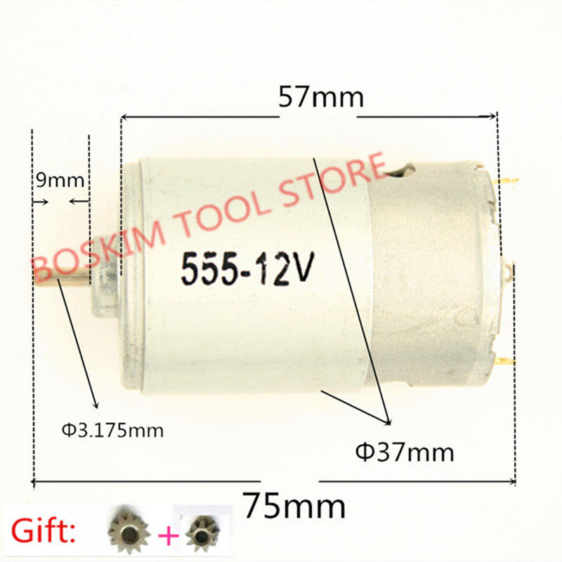 Motor <font><b>RS</b></font>-<font><b>555</b></font> DC 10.8V 12V 3550rpm Replacement For BOSCH MAKITA HITACHI electric Screwdriver vacuum cleaner toys motor image