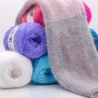 Wholesale 1 PC/lot 50 Grams Soft Yarn Crochet Cotton Knitting Rabbit Yarn Knitting Wool Thick Yarn for Scarf Sweater