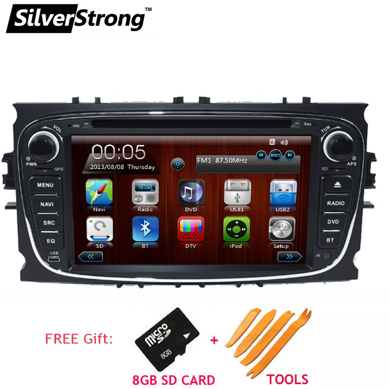 SilverStrong WinCE Two Din Universal Car DVD Player For FORD FOCUS2 GALAXY MONDEO CONNECT 2008 2011