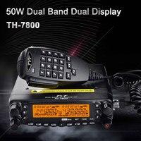 Dwuzakresowy Radia TYT TH-7800 Urządzenie USB Kabla do Programowania 50 W Podwójny Wyświetlacz LCD Samochodów Ciężarówka AM/FM Radio komórka