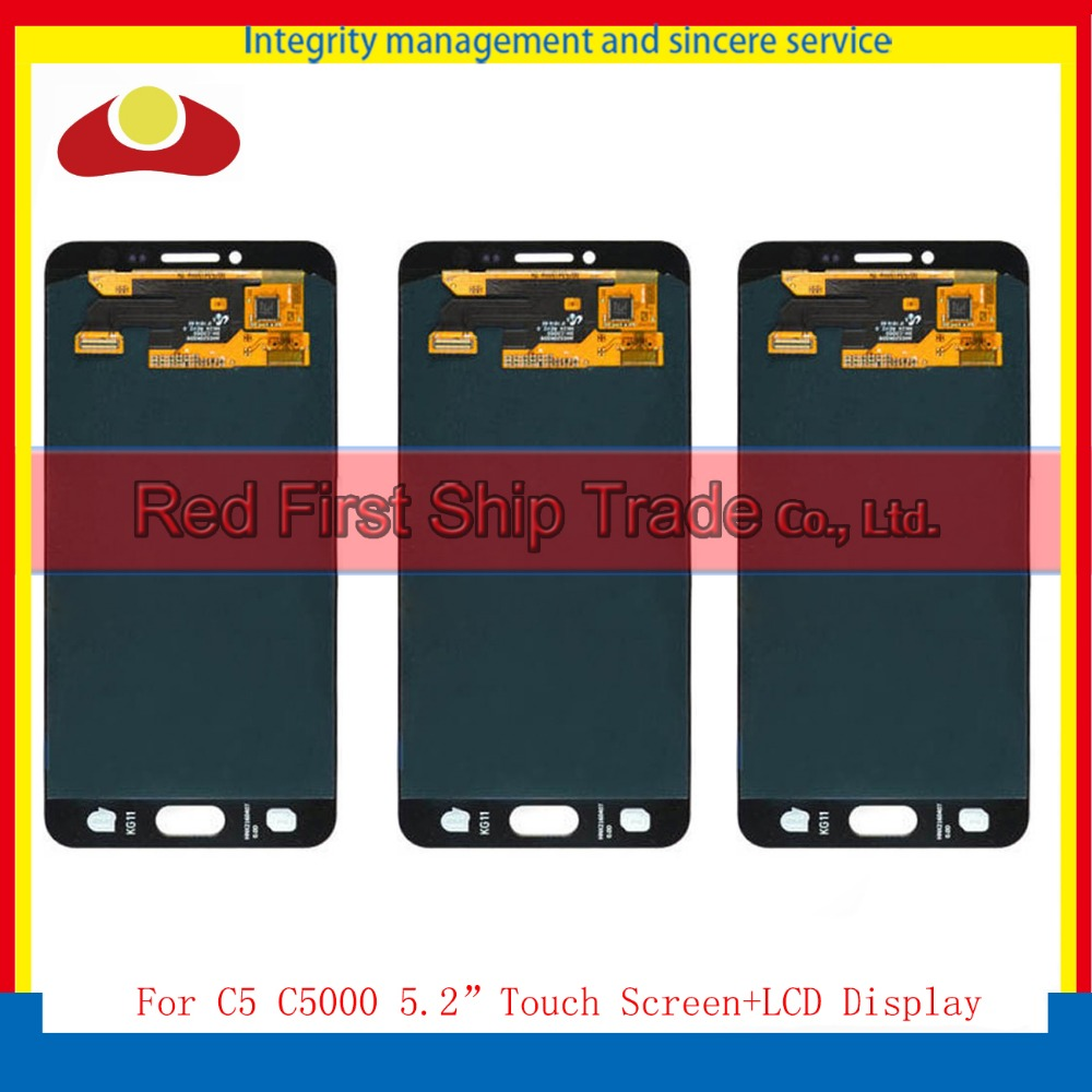 5.2 For Samsung Galaxy C5 SM-C5000 C5000 Full Lcd Display Touch Screen Digitizer Panel Assembly Complete Black White Gold+Track