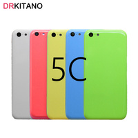For IPhone 5C Back Battery Housing Cover Rear Door Case Middle Chassis Replacement Sim Tray For