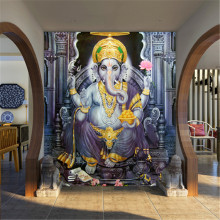 Beibehang em papel de parede para quarto 3d gaya asia tenggara yoga ruang mural wallpaper indian gajah dewa mural wallpaper(China)