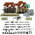 WW2 Тихоокеанской войны военный солдат с оружием и оружием строительные блоки дети Связи и обучающие игрушки