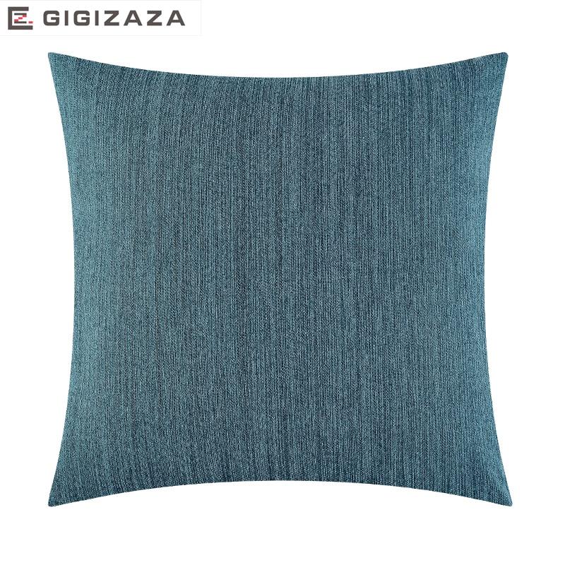 Zacht touch massief jacquard weefsel Groothandel Kussen kussen blauw - Thuis textiel