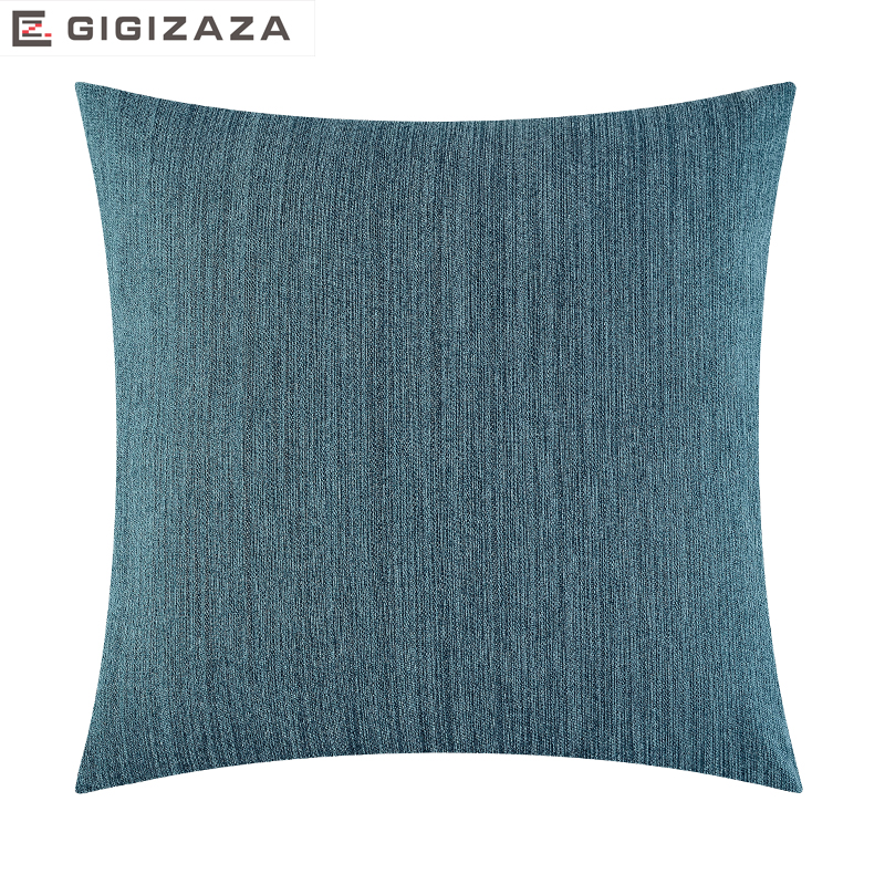 Soft touch solid jacquard fabric Wholesales Pillow cushion blue tan Cushion cover Home Decorative for sofa 45x45cm/50*50cm