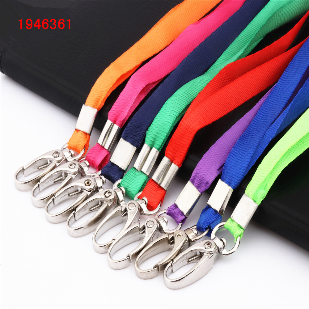 Beautiful 615 variety of colors Ribbon Lanyard Badge Holder Accessories high quality Office Badge strap rope prescription drug