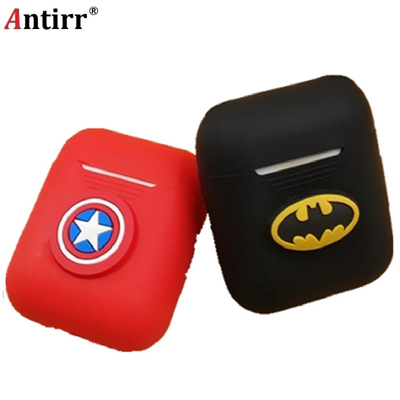 купить Cartoon Soft Silicone Case For Apple Airpods Shockproof Cover For Apple AirPods Earphone Cases Cute Air Pods Protector Case free по цене 156.43 рублей