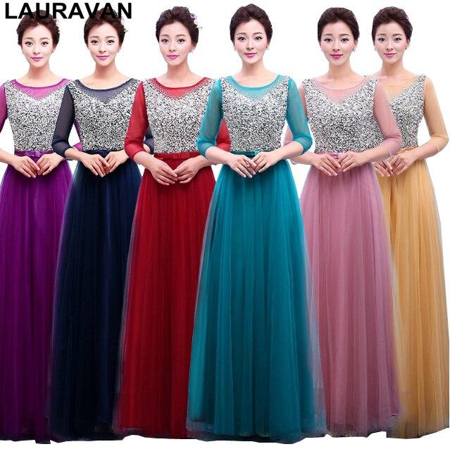 Belle longue robe soiree longue demoiselles d'honneur or violet dames élégantes robes de demoiselle d'honneur à paillettes 2019 robe de bal de fête