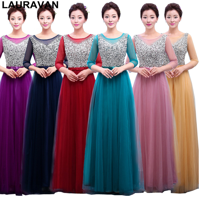beautiful long robe soiree longue   bridesmaids   gold purple ladies elegant sequined   bridesmaid     dresses   2019 party ball gown