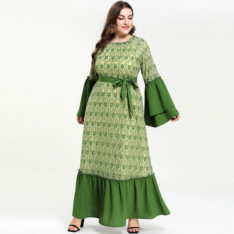 Kaftan Abaya Islam Muslim Dress Ramadan Arabic Hijab Dress Abayas For Women Elbise Turkish Islamic Clothing Robe Dubai Caftan