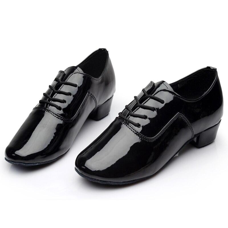 Gloednieuwe Soft Sole heren Kinder Ballroom Latin Tango Dansschoenen Heel Verkoop Zwart Wit Zilver Goud Kleur Groothandel