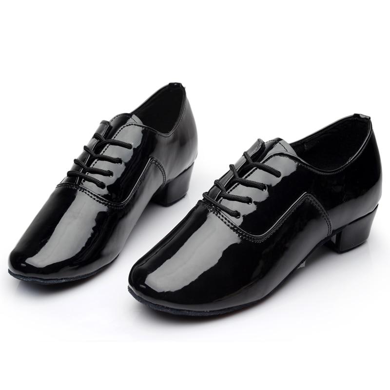 Brand New Soft Sole muške dječje dvorane Latino Tango plesne cipele Heeled Prodaja Black White Silver Gold Boja Veleprodaja