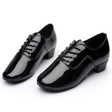 Brand New Soft Sole мужская детские Бальные Латинской Танго Танцевальная Обувь На Каблуках Стимулирование Черный Белый Серебро Золото Цвет оптовая