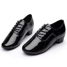 Brand New Soft Sole Men s Children s Ballroom Latin Tango Dance Shoes Heeled Sales Black