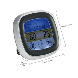 Image 5 - MOSEKO Digital Colorful Touchscreen Oven Thermometer Instant Read Probe Cooking Food BBQ Kitchen Thermometer with Timer Alert