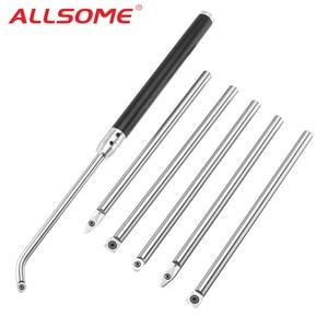 Image 1 - ALLSOME 木材旋削工具と超硬挿入カッターラウンドシャンク木工ツールアルミ合金 HT2400 2406