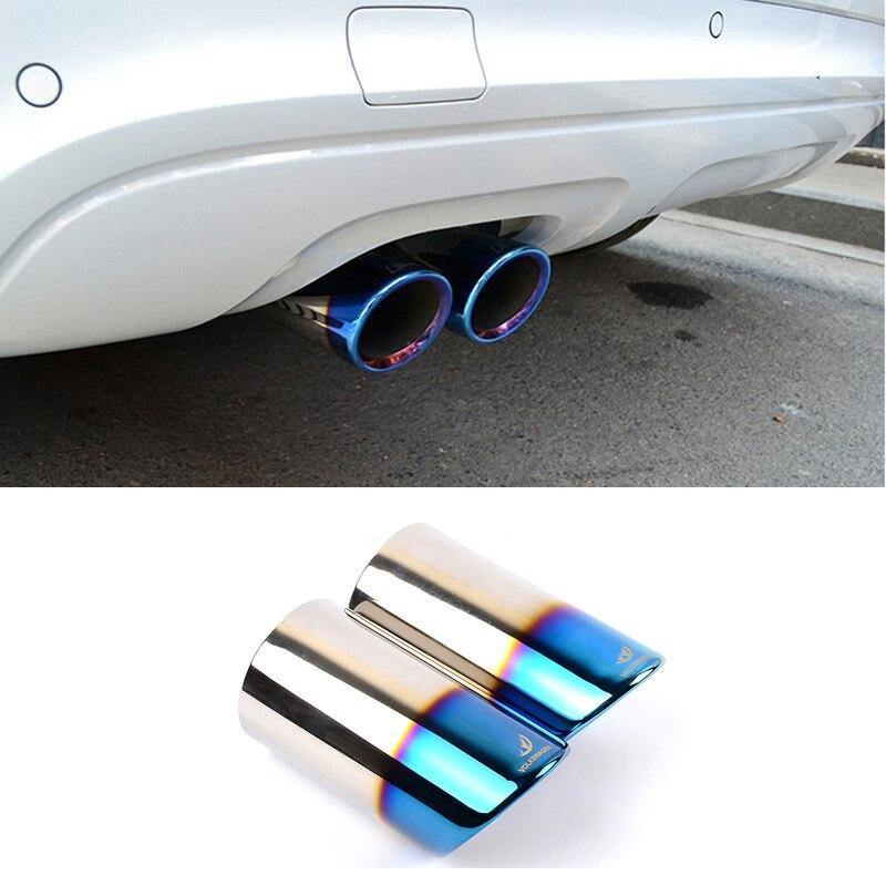 Auto-styling Auspuffrohr Schalldämpfer Spitze Turbo Sound-Whistle Auto für Volkswagen Vw Jetta Scirocco Golf MK6 6 7 MK7 1,4 T 1,6 T