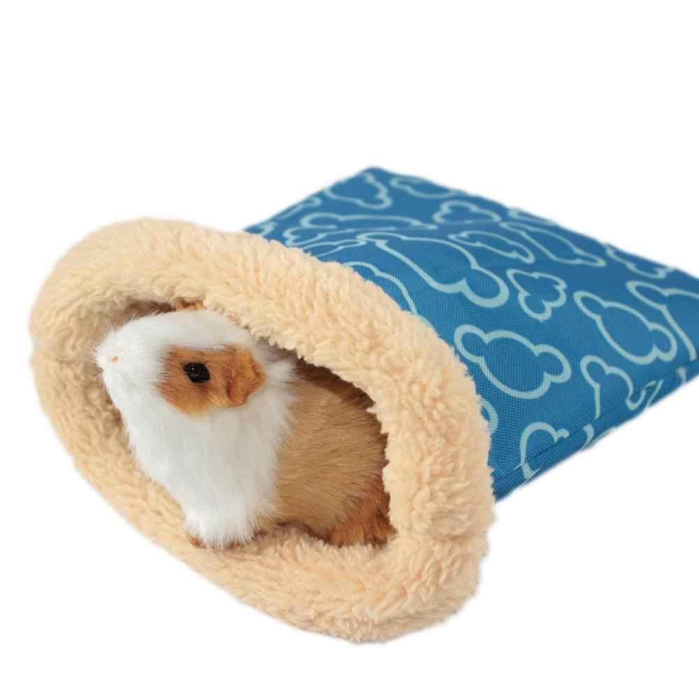 AsyPets pequeño Animal hámster saco de dormir cálido cómodo nido para ratones ratas Chinchilla-25
