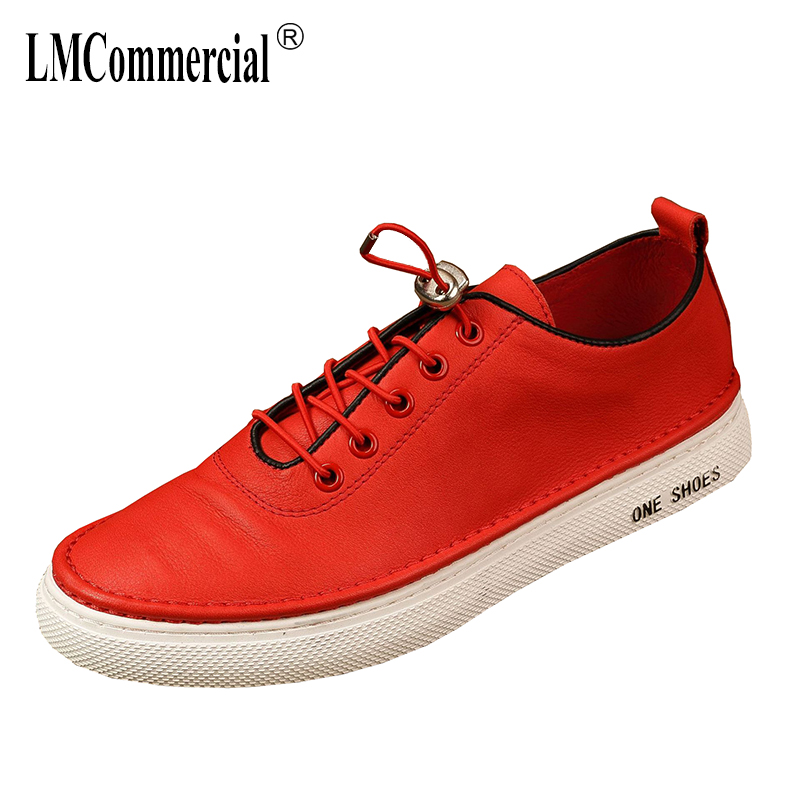 spring Genuine leather casual men
