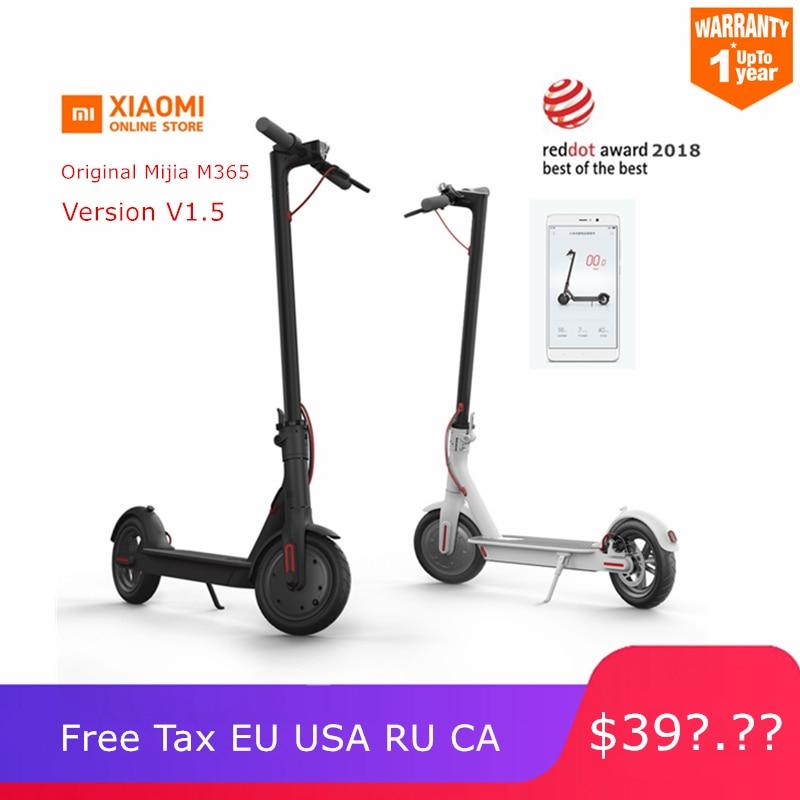 Original Xiao Mi Mi Jia M365 Smart Elektrische Roller Faltbare Mi Leichte Lange Bord Hoverboard Skateboard 30 Km Mi Leage Mit App Auf Der Ganzen Welt Verteilt Werden Roller