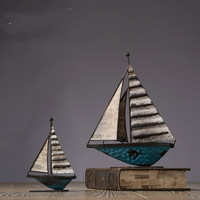 American Iron Crafts Sailboat Ornaments Home Furnishings Craft Accessories