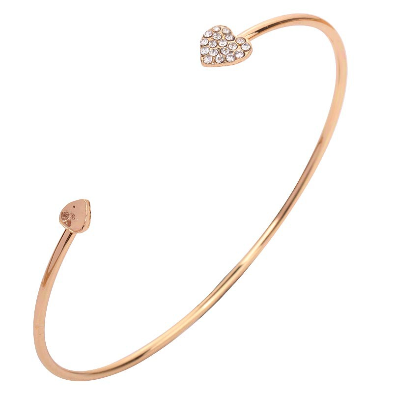 Crystal Heart Bracelet Bangle For Women Bracelets Jewelry Women Jewelry
