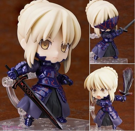 Free Shipping Cute 4 Nendoroid Fate Stay Night Saber Lily PVC Action Figure Model Collection Toy free shipping nendoroid 4 cute kantai collection shimakaze pvc mini action figure toy doll 371 mnfg063