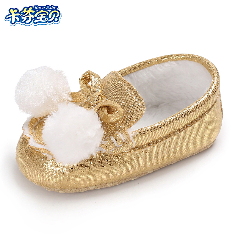 Winter Newborn Baby Boys Girls Warm Shoes Fashion Solid Color First Walkers Crib Shoes Inside Plush Material Toddler Girls Shoes