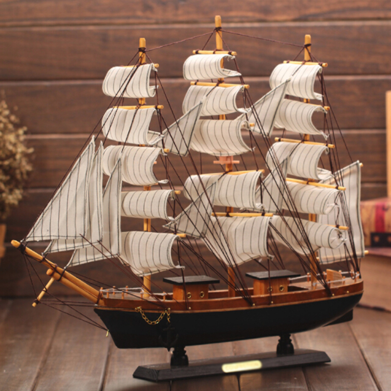 Furnishing Boat Model Decoration Craft Wooden Sailing Mediterranean Sailing Ship Models Kits Brand New Hobbies