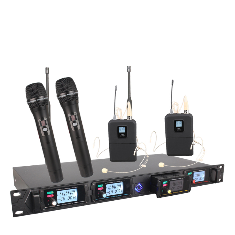 4 channel Wireless microphone system 8000G professional UHF channels dynamic microphone professional 4 karaoke microphone