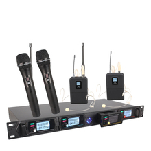 four channel Wi-fi microphone system 8000G skilled UHF channels dynamic microphone skilled four karaoke microphone