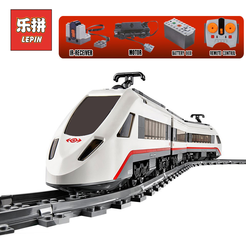LEPIN 02010 610Pcs Creator High-speed Passenger Train Remote-control Trucks model Building Blocks Bricks Toys LegoINGlys 60051 lepin 02010 city trains high speed passenger train model building blocks enlighten diy figure toys for children compatible 60051