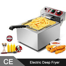 10L Single Tank Comemrcial Electric Deep Fryer Machine/Electric Fryer/Electric Chip Fryers
