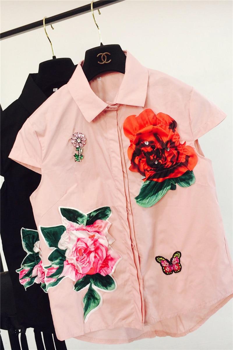 Manches White Sans Toutes Chemise Du Printemps Floral Les Sélections De Lâche Femmes Broderie 2018 Blanc Blouse Début Au Casual Tops Shirt 3d 1qnw1SaxTf